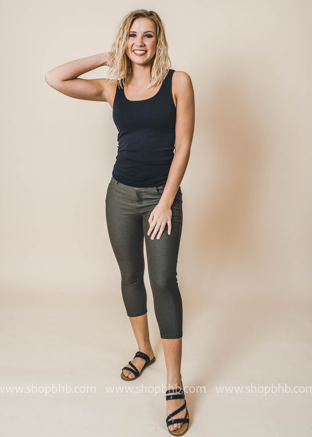 Classic Jeggings Capris, BOTTOMS, Yelete, BAD HABIT BOUTIQUE