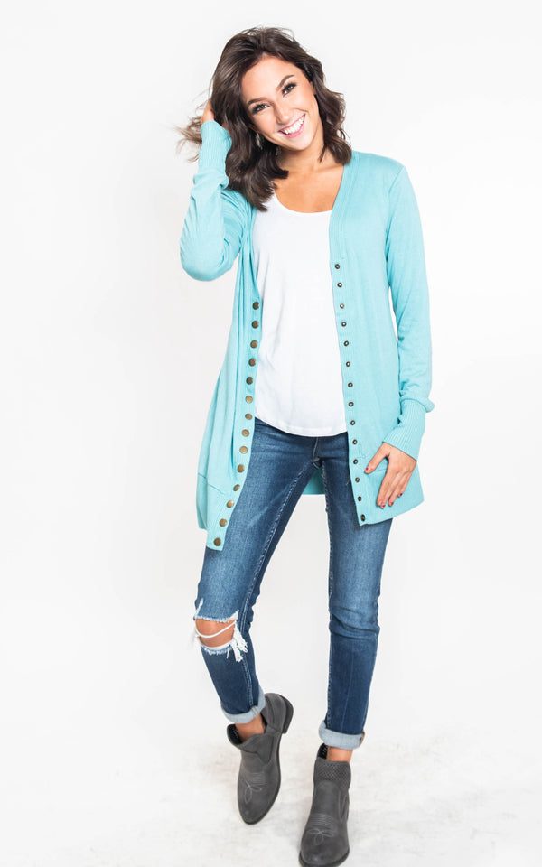 12 Days of BHB - Classic Snap Cardigan, CLOTHING, Zenana, BAD HABIT BOUTIQUE