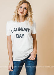 Laundry Day Graphic Top | WHITE