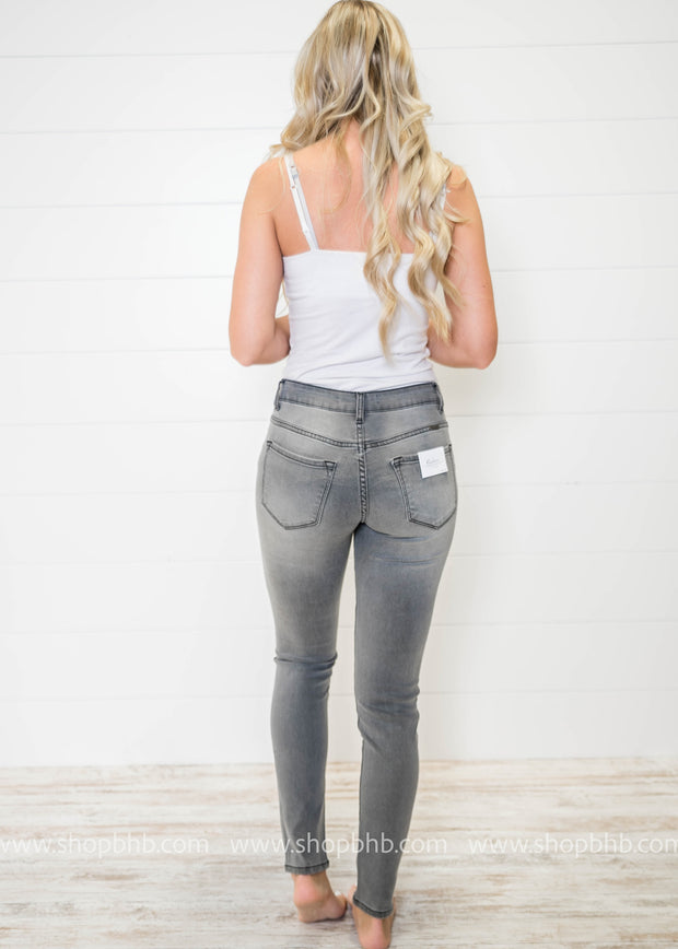 Basic Gray Denim Skinny Jeans | Kan Can, DENIM, KAN CAN, badhabitboutique