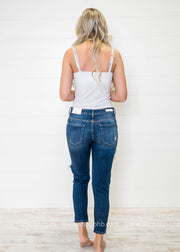 Mid Rise Open Knee Boyfriend | Denim - FINAL SALE