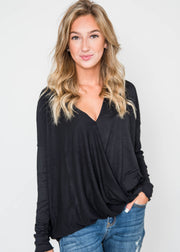 black cross body blouse