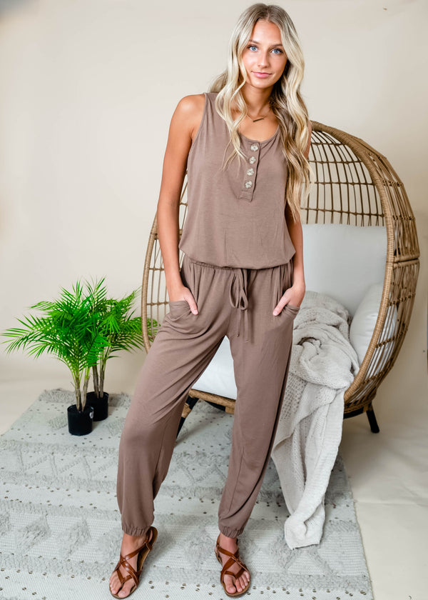 Sleeveless Jogger Jumpsuit | FINAL SALE, CLOTHING, Zenana, BAD HABIT BOUTIQUE