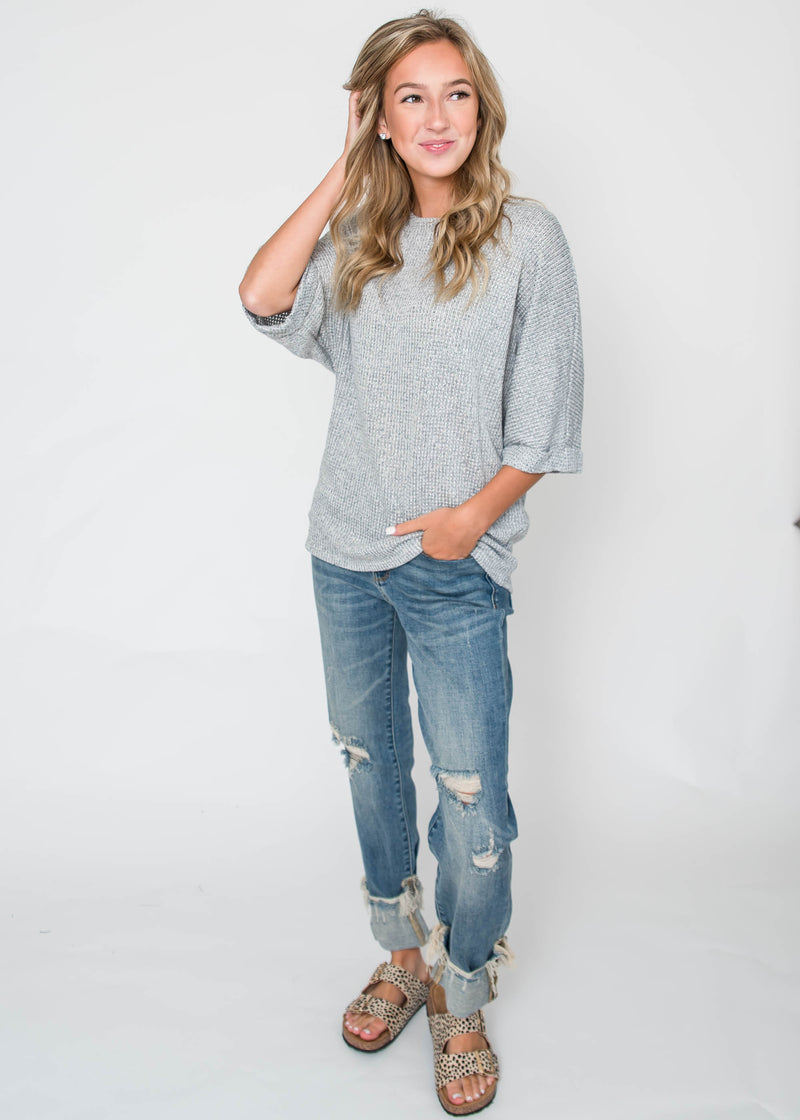 Cuffed Distressed Relax Fit - Judy Blue, CLOTHING, JUDY BLUE, BAD HABIT BOUTIQUE