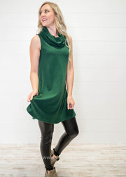 Cowl Neck Tank Dress.. FINAL SALE, SALE, TCEC, BAD HABIT BOUTIQUE