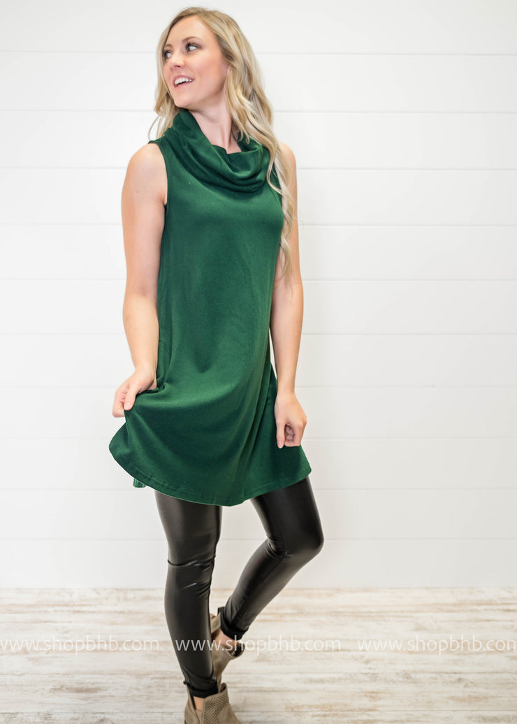 Cowl Neck Tank Dress.., DRESSES, TCEC, badhabitboutique