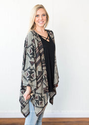 Aztec Dolman Cardigan | Wine - FINAL SALE, SALE, Chris & Carol, BAD HABIT BOUTIQUE