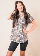 Criss Cross Animal Print Top | FINAL SALE, CLOTHING, Lovely Melody, BAD HABIT BOUTIQUE