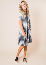 My Little Black Tie Dye Dress, CLOTHING, HEMISIH, BAD HABIT BOUTIQUE