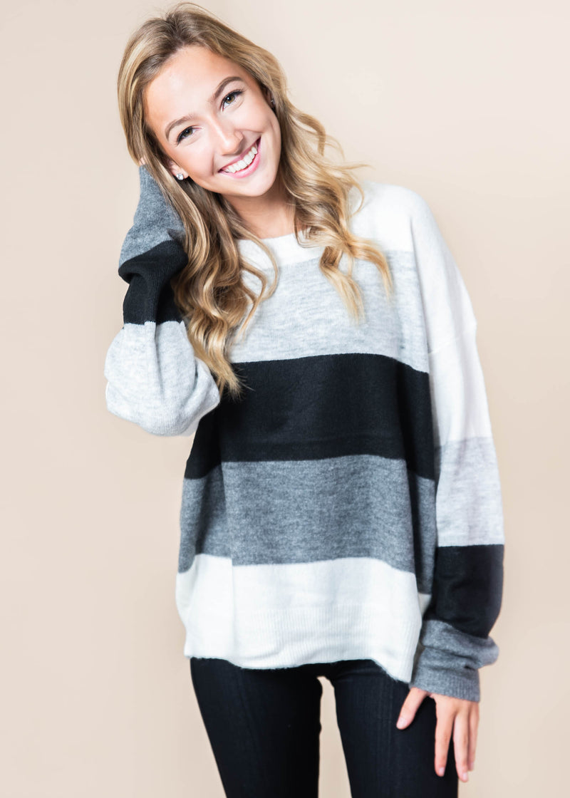 Crispy Fall Colorblock Sweater, CLOTHING, andree by unit, BAD HABIT BOUTIQUE