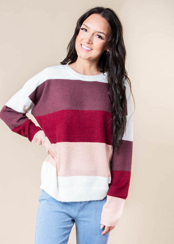 Falling into FALL Striped Sweater | FINAL SALE, CLOTHING, andree by unit, BAD HABIT BOUTIQUE