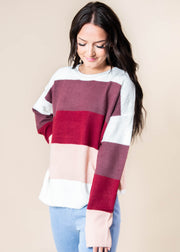 Falling into FALL Striped Sweater, CLOTHING, andree by unit, BAD HABIT BOUTIQUE