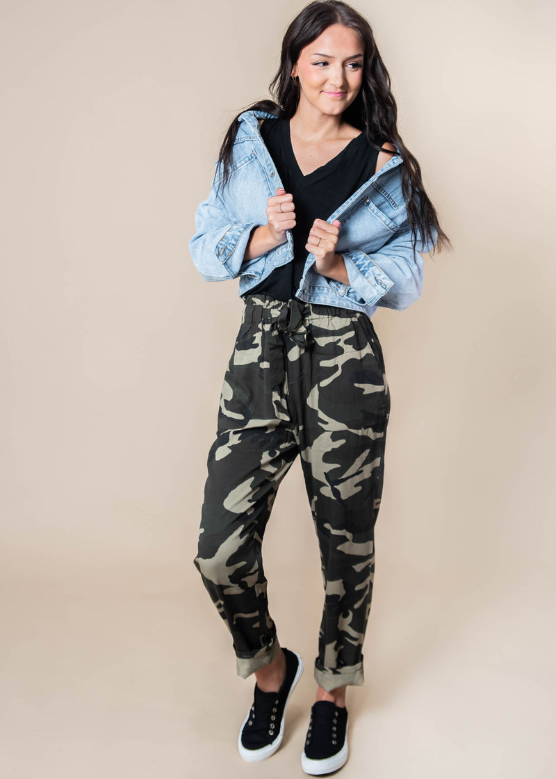 Belted Camo Trousers - Final Sale, CLOTHING, SANS SOUCI, BAD HABIT BOUTIQUE