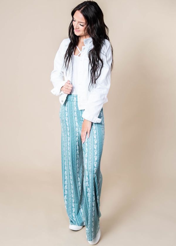 Paisley Me Attention Lounge Palazzo Pants - Final Sale, CLOTHING, Lovely Melody, BAD HABIT BOUTIQUE