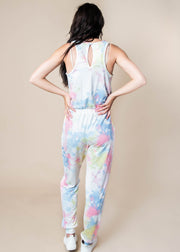 Tie-Dye Print Sleeveless Knit Jumpsuit, CLOTHING, Fantastic Fawn, BAD HABIT BOUTIQUE