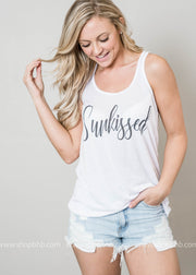 white tank sunkissed graphic