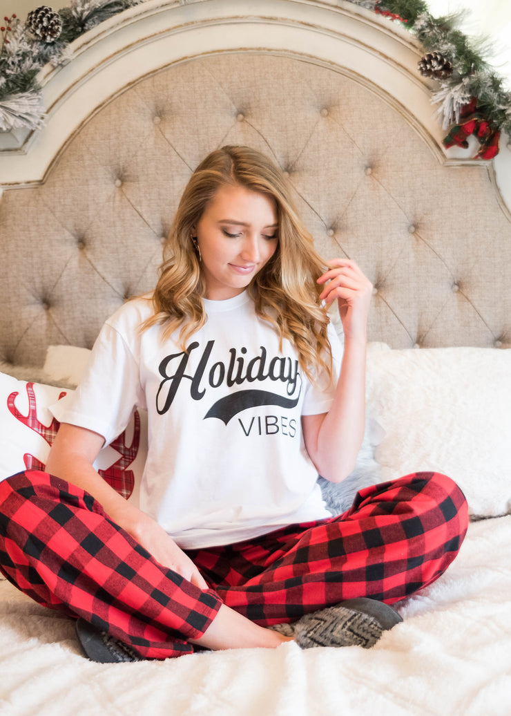 Holiday Vibes TEE, CHRISTMAS, BAD HABIT APPAREL, badhabitboutique