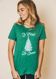 so fresh so green tshirt, christmas graphics, green tees