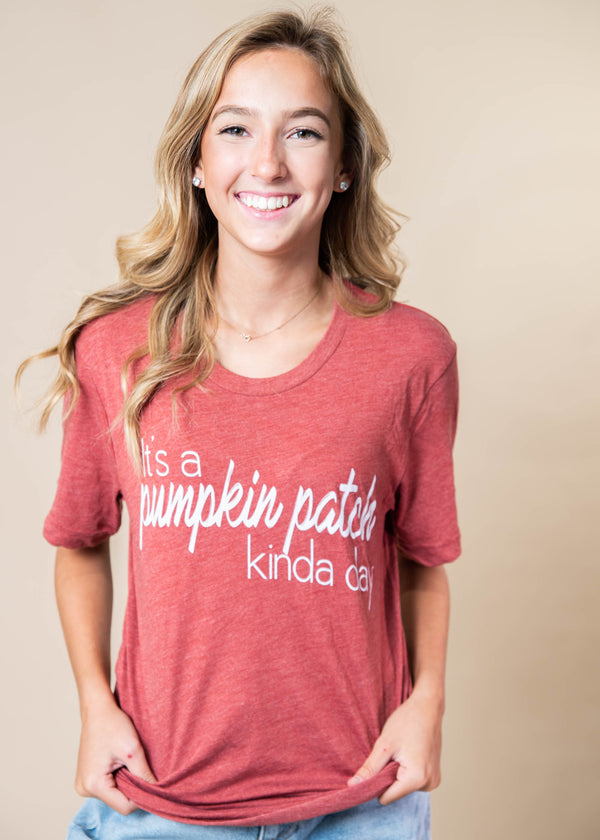 Its a Pumpkin Patch Kinda Day T-Shirt - BAD HABIT BOUTIQUE