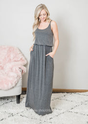 ADJUSTABLE STRAP  LAYER MAXI DRESS, MAXI DRESS, Zenana, BAD HABIT BOUTIQUE