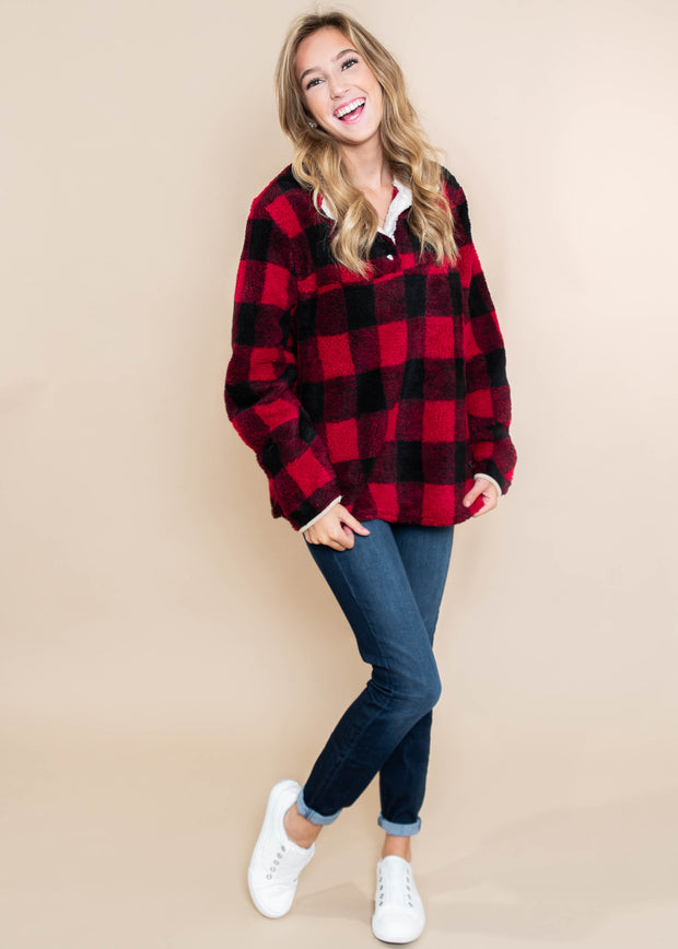 Buffalo Plaid Pullover | Andree, clothing, andree by unit, BAD HABIT BOUTIQUE