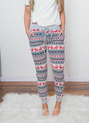Tis the season for comfy clothes and reindeer joggers are so cute!!!