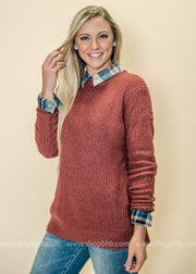 We love this dusty rose color for fall sweaters