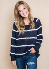 Striped Sweater | FINAL SALE, CLOTHING, MIRACLE, BAD HABIT BOUTIQUE