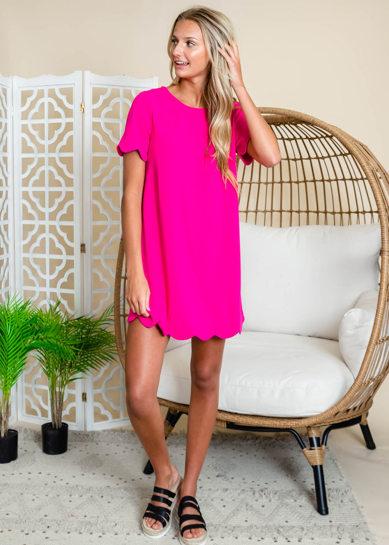 Scallop Trimmed Dress - Andree By Unit | FINAL SALE, CLOTHING, andree by unit, BAD HABIT BOUTIQUE