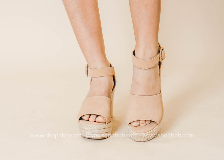 f23836ee931 Nude Wedge - Fabia Final Sale