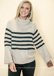 We love the wider sleeves on this sweater