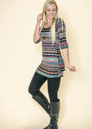 We cant contain our excitement over our striped pattern tunic