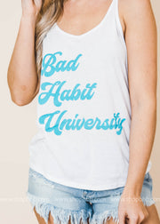 Bad Habit University Tank, GRAPHICS, BAD HABIT APPAREL, BAD HABIT BOUTIQUE