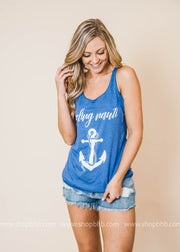 Feeling Nauti custom made graphic blue tank top