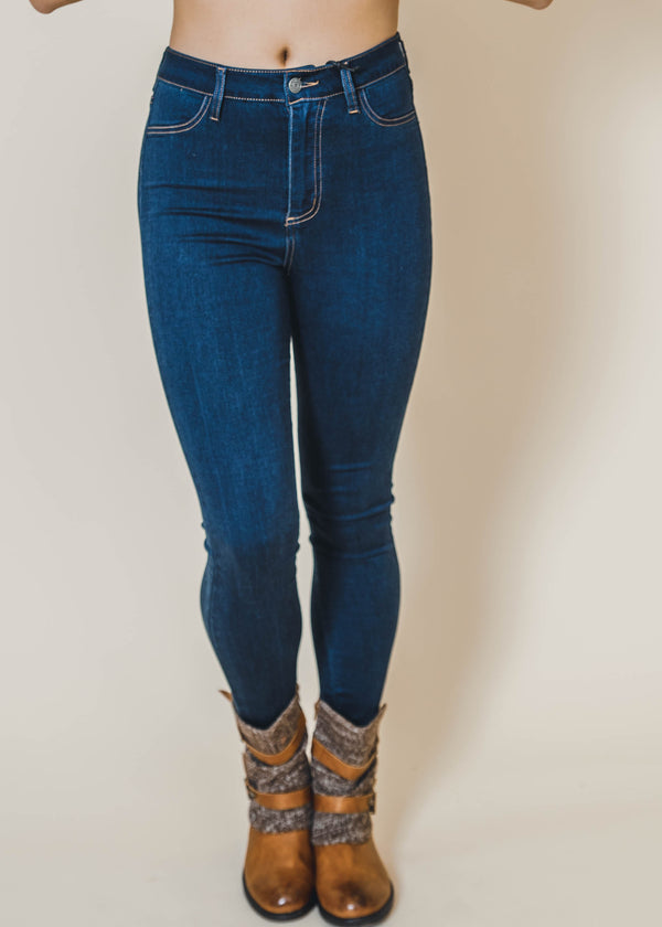 Dark Wash High Rise Skinny Jeans, CLOTHING, CELLO, BAD HABIT BOUTIQUE