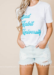 Bad Habit University Tshirt, GRAPHICS, BAD HABIT APPAREL, BAD HABIT BOUTIQUE