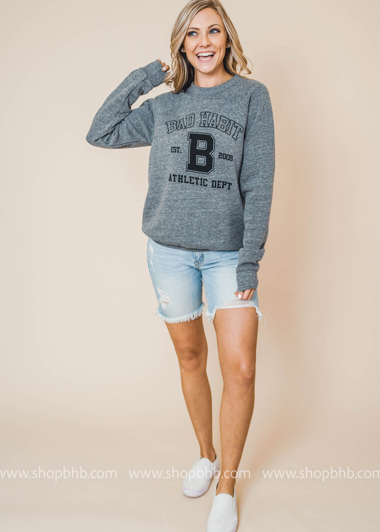 BHB Athletic Dept Sweater, CLOTHING, BAD HABIT APPAREL, BAD HABIT BOUTIQUE