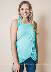 twist tank top in mint