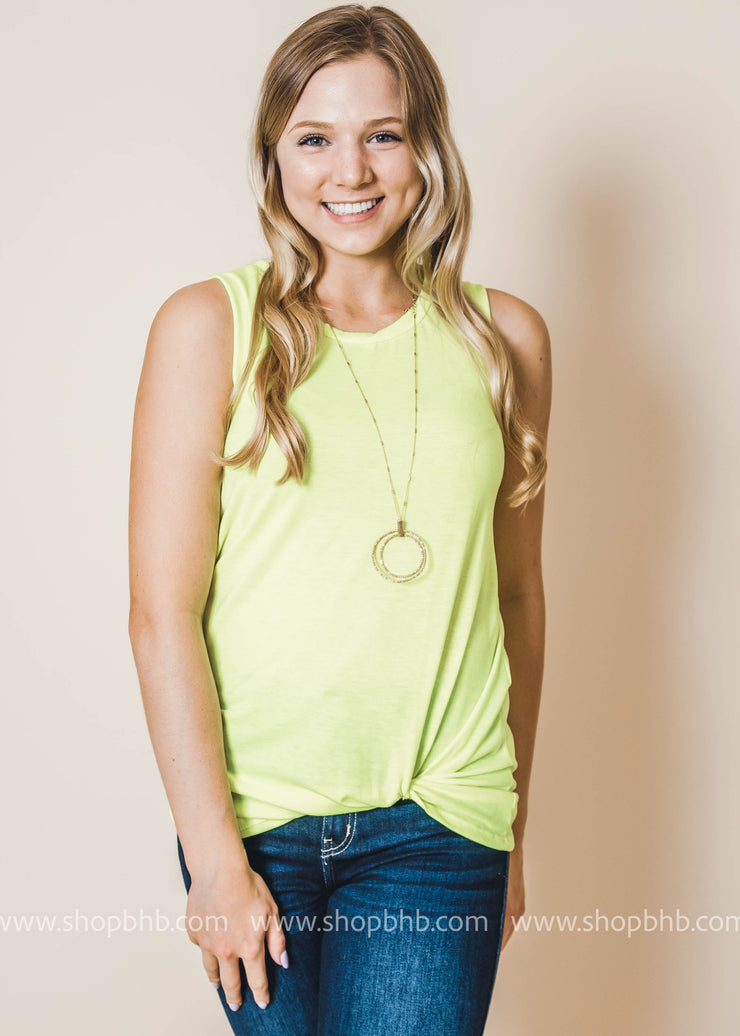 twist tank top in YELLOW