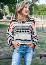 That Native Feeling Knit Sweater, Clothing, Cozy Casual, BAD HABIT BOUTIQUE