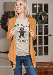 Pair your tough cookie tshirt up with a lightweight cardigan