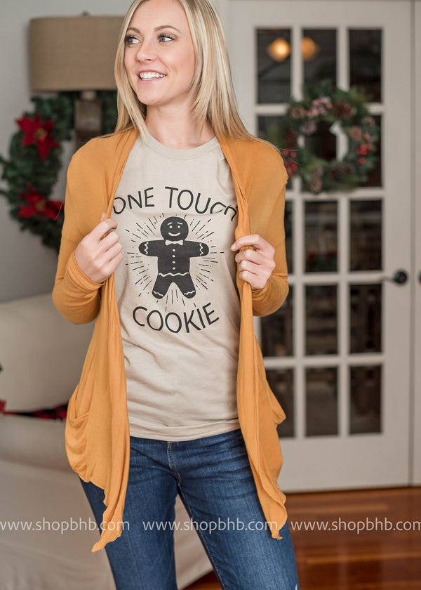 One Tough Cookie Graphic Tee- Oatmeal - BAD HABIT BOUTIQUE