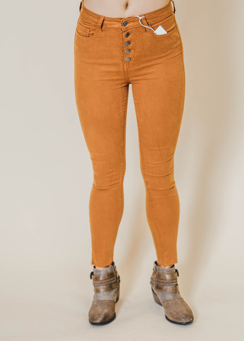 Cello- High Rise Button Fly Skinny Jeans - Final Sale, CLOTHING, CELLO JEANS, BAD HABIT BOUTIQUE