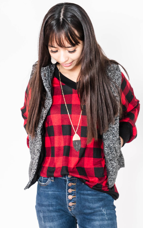 The Cabin Heathered Vest, CLOTHING, Be Cool, BAD HABIT BOUTIQUE