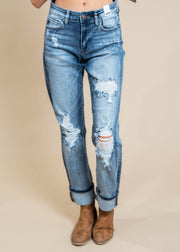 Destroyed Bleach Splatter Boyfriend Jeans - Judy Blue, CLOTHING, JUDY BLUE, BAD HABIT BOUTIQUE