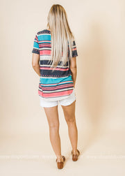 Multi Striped Tee Shirt