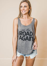 On the Road Again Tank - Bad Habit Apparel, CLOTHING, BAD HABIT APPAREL, BAD HABIT BOUTIQUE