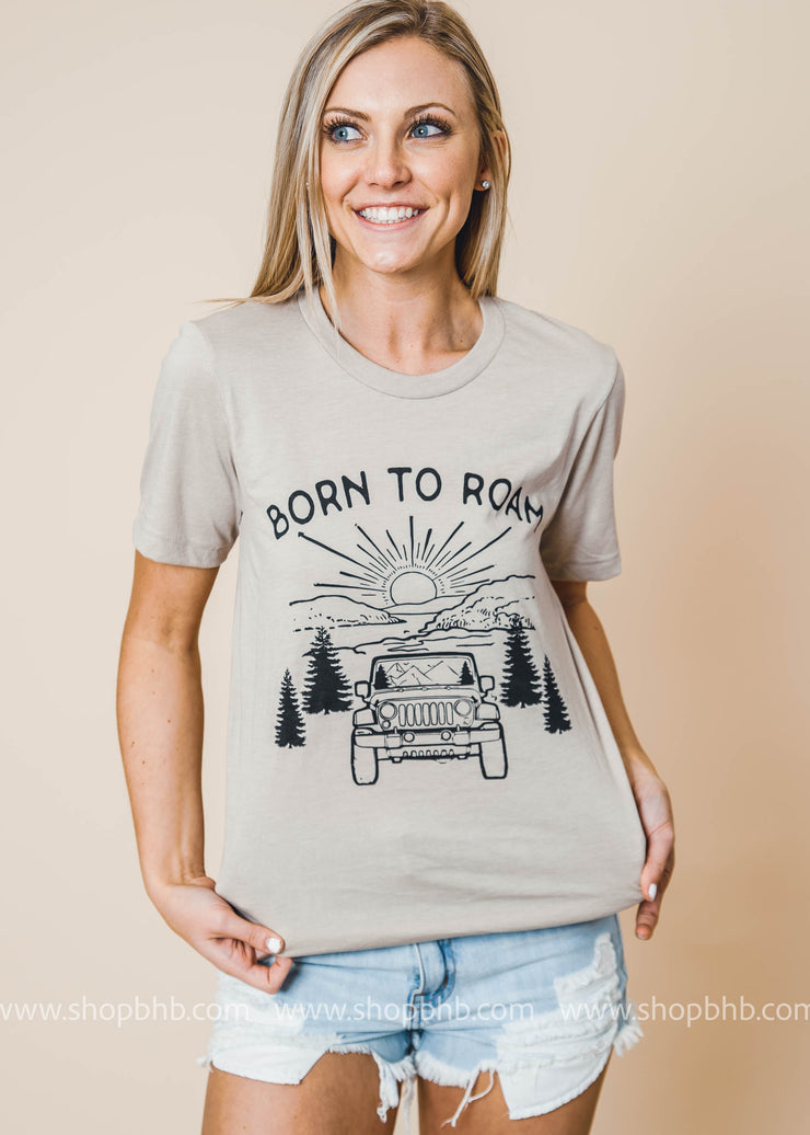 Born to Roam Tshirt - Bad Habit Apparel, GRAPHICS, BAD HABIT APPAREL, BAD HABIT BOUTIQUE