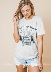 Born to Roam Tshirt - Bad Habit Apparel, CLOTHING, BAD HABIT APPAREL, BAD HABIT BOUTIQUE