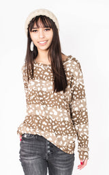 Cheetah Wide Stripe Colorblock  Top {SEW IN LOVE }, CLOTHING, SEW IN LOVE, BAD HABIT BOUTIQUE
